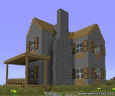как построить красивый дом из кирпича в майнкрафте видео